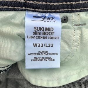 Silver Jeans Jeans - Silver Jeans Suki Mid Slim Boot Jeans Dark Wash 32